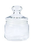 Empty glass jar for spice Royalty Free Stock Photos