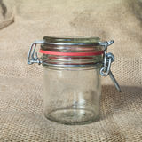 Empty glass jar Royalty Free Stock Images
