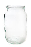 Empty glass jar Stock Images