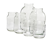 Empty glass jars  Royalty Free Stock Photography