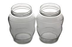 Empty glass jars four Stock Image