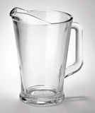 Empty glass jug