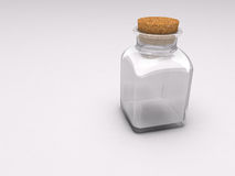 Empty Glass Medicine Bottle Royalty Free Stock Photos