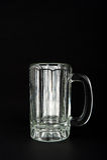 Empty Glass Mug Stock Photo