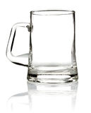 Empty glass mug for beer Stock Photo