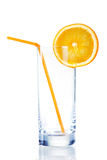 Empty glass for orange juice Royalty Free Stock Photography