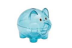 Empty glass piggy bank Royalty Free Stock Photo