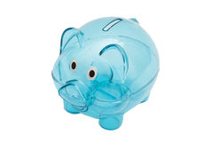 Empty glass piggy bank Stock Image