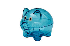 Empty glass piggy bank Stock Photography