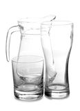 Empty glass pitcher Royalty Free Stock Images