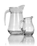 Empty glass pitchers Stock Photography