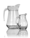 Empty glass pitchers Stock Photography