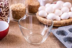 Empty glass plate on the table royalty free stock photos