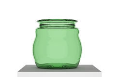Empty glass pot Royalty Free Stock Photo