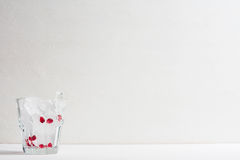 Empty glass, prepare for pomegranate cocktail Stock Photography