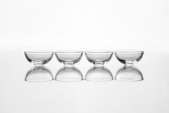 Empty glass several of bowls Royalty Free Stock Photos
