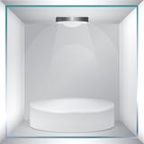 Empty glass showcase for exhibit Royalty Free Stock Photos