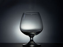 Empty glass silhouette Stock Image