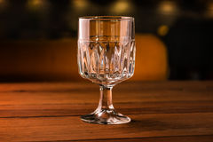 Empty glass on table in night club Stock Photography