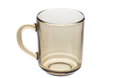 Empty glass tea cup Royalty Free Stock Photography