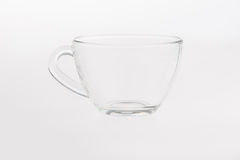 Empty glass tea cup Royalty Free Stock Photos