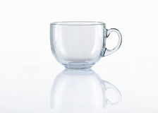 Empty glass tea cup on white background Stock Image
