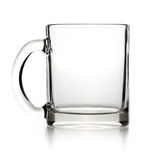 Empty glass teacup Royalty Free Stock Photography