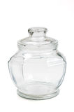 Empty glass transparent jar Stock Photography