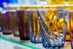 Empty glass of water used in the beverages. Stock Images