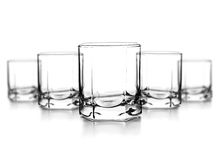 Empty glass for whiskey Stock Photos