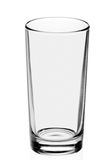 Empty glass on the white background Royalty Free Stock Image