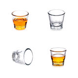 Empty glass on a white background Stock Photos