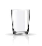 Empty glass  on white Royalty Free Stock Photos