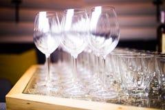 Empty glass for wine Stock Photos