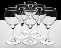 Empty glasses Royalty Free Stock Photo