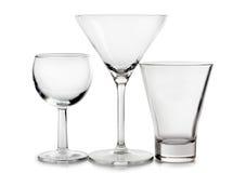 Empty glasses Stock Photography