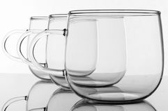 Empty glasses Stock Photos