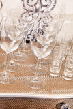 Empty glasses Stock Photography