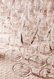 Empty glasses Royalty Free Stock Photo