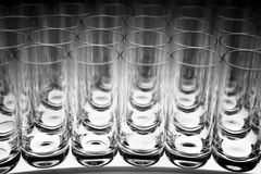Empty Glasses Stock Images