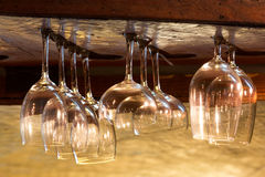 Empty glasses for alcohol beverage Stock Images