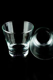 Empty glasses on a black background Royalty Free Stock Photos