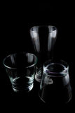 Empty glasses on a black background Royalty Free Stock Image