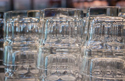 Empty glasses in coffee shop Stock Images
