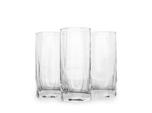 Empty glasses. Isolated on white background royalty free stock images