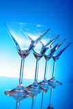 Empty glasses of martini Royalty Free Stock Photos