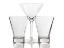 Empty glasses of martini Stock Photos