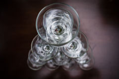 Empty glasses Royalty Free Stock Photography