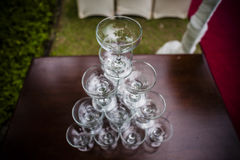 Empty glasses Royalty Free Stock Images