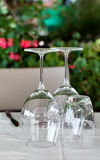Empty Glasses On Table Stock Photography